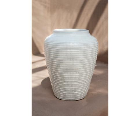Bergs Potter glaseret vase Willow hvid