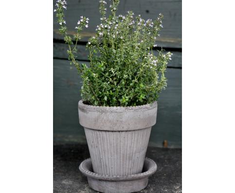 Simona potten er smuk, grå, romantisk potte fra Toscana