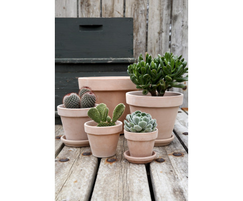 Terracotta krukke, klassisk, enkel urtepotte