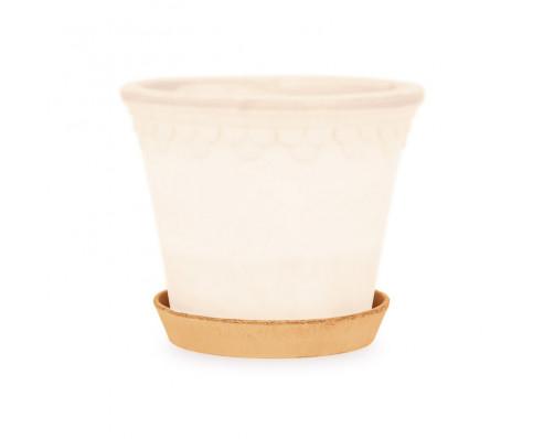 Løs underskål / krukkefod i lys terracotta
