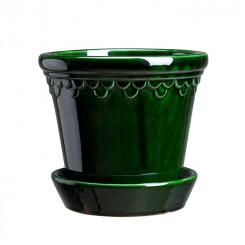 Københavner Green Emerald - Glaseret grøn potte