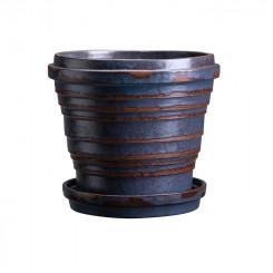 Vintage Metalic Blue Brown