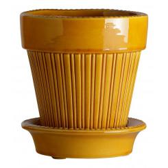 Simona glaseret Gul - Simona Yellow Amber