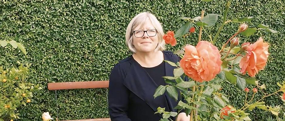 Tina og rosenhaven